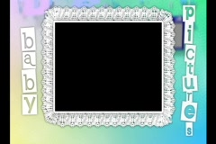 4717  Baby Video Photo Frame ABC Lace - stock footage