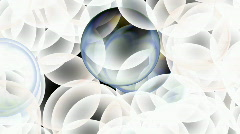 Color glass balls rise drop material texture egg bubble blister underwater. Stock Footage
