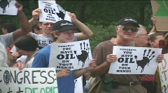 Environmental activists protest outside US Congres  Stock Footage