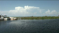 Boats on Lake Okeechobee Stock Footage