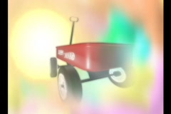 4707 Child Little Red Wagon Background - stock footage