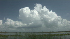 Florida Clouds Over Lake Okeechobee Stock Footage