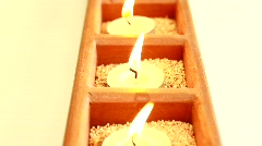 Close-Up of Candles Flames - stock footage