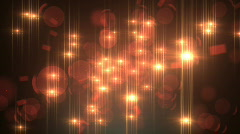 Spinning lens flare lights - stock footage