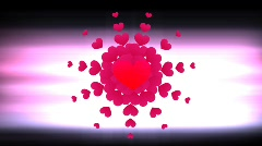 Love Heart Motion-Graphic Stock Footage