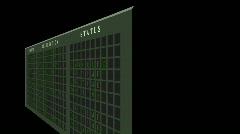 Airport flight destination board showing status  Stock Footage