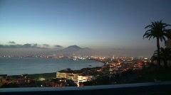Bay of Naples Sunset 2 - stock footage