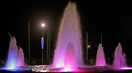 Stock Video Footage of Fountains with color highlights