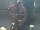 Spinning wheel Stock Footage