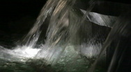 Stock Video Footage of Waterfall with light