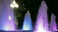 Stock Video Footage of Fountains with backlight