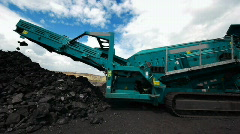 Coal production 018 Stock Footage