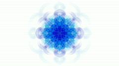 Blue flower lotus pattern,orient religion totem,kaleidoscope.Buddhism Mandala fl Stock Footage