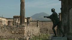Pompei temple of Apollo, pan - stock footage