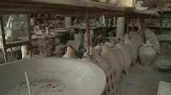 Pompei interiors Stock Footage
