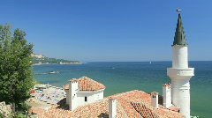 Balchik Palace, Black Sea, Bulgaria Stock Footage