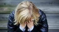 Heartbroken woman Stock Footage