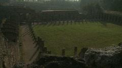 Pompei Palestra Stock Footage