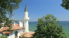 Black Sea Coast of Balchik, Bulgaria Stock Footage