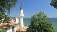 Stock Video Footage of Black Sea Coast of Balchik, Bulgaria