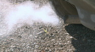 Smokey exhaust pipe 2 Stock Footage