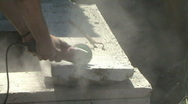 Cutting Cement With A Saw Stock Footage