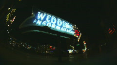 Wedding information sign in Las Vegas Stock Footage