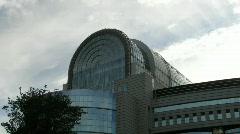 Time lapse European Parliament Stock Footage