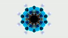Blue flower lotus pattern,kaleidoscope,gorgeous oriental religion fancy.Buddhism Stock Footage