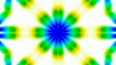 Animation of green flower lotus texture.Buddhism Mandala flower,kaleidoscope,ori Stock Footage