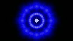 Animation of blue fancy light,Buddhism Mandala flower,kaleidoscope,oriental reli Stock Footage