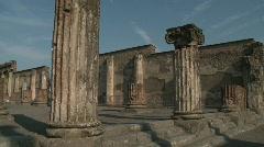 Pompei Italy, Basilica Stock Footage