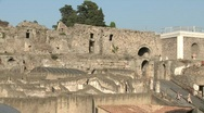 Pompei House of Scaurus 3 Stock Footage