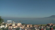 Bay of Naples from Stabia Pan Stock Footage