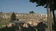 Pompei House of Scaurus 2 Stock Footage