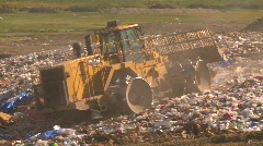 Stock Video Footage of the environment, garbage dump, #3 and compactor