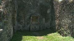 Pompei Lararium Stock Footage