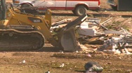 Stock Video Footage of the environment, garbage dump, #22 tractor and compactor