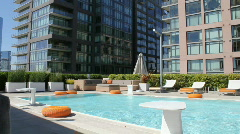 Rooftop Pool Stock Footage