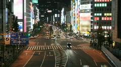Time lapse Tokyo street scene Stock Footage