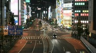 Stock Video Footage of Time lapse Tokyo street scene