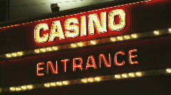 Casino entrance sign - stock footage