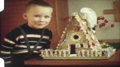 Christmas Lebkuchen house (vintage 8 mm amateur film) - stock footage