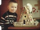 Christmas Lebkuchen house (vintage 8 mm amateur film) Stock Footage