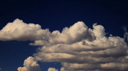 Stock Video Footage of Time-lapse of Cumulus Clouds