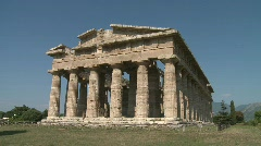 Paestum Doric Temple 9 Stock Footage
