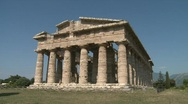 Paestum Doric Temple 9 Stock Footage