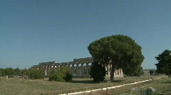Paestum Doric Temple 8 Stock Footage
