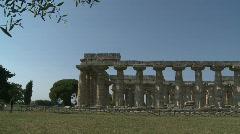 Paestum Doric Temples 6 Stock Footage