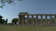 Stock Video Footage of Paestum Doric Temples 6